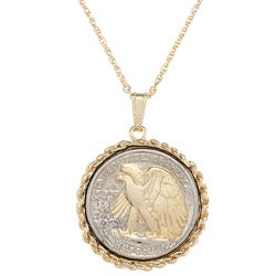 American Coin Treasures Silver Walking Liberty Half Dollar Necklace