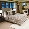 Sophie Tufted Taupe Velvet Queen-size Platform Bed