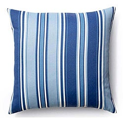 Blue Thick Stripes Pillow