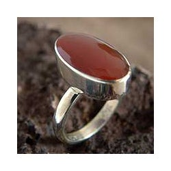 Handcrafted Sterling Silver 'Legacy' Carnelian Ring (Peru)