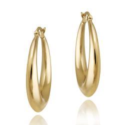 Mondevio 18k Gold over Stainless Steel Circle Hoop Earrings