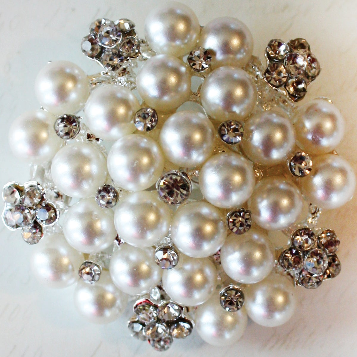 Perfectly Pearl Cluster Broach Embellishment
