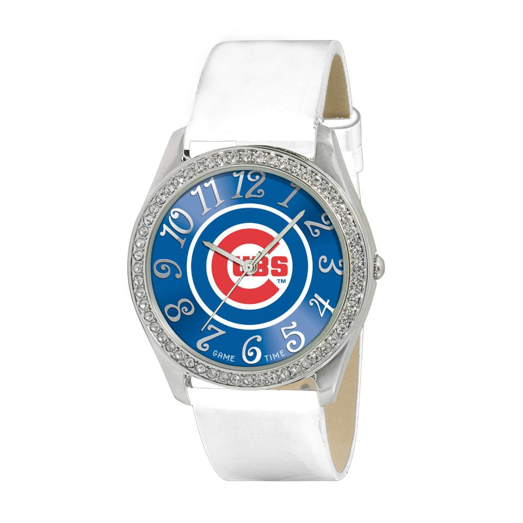 Game Time Chicago Cubs Women's Glitz Classic Analog Patent Leather Watch