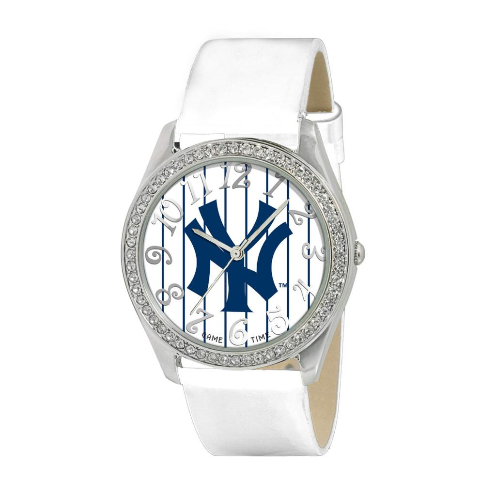 New York Yankees Women's Glitz Classic Analog Patent Leather Watch