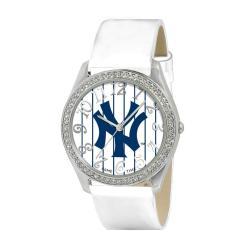 New York Yankees Women's Glitz Classic Analog Patent Leather Watch