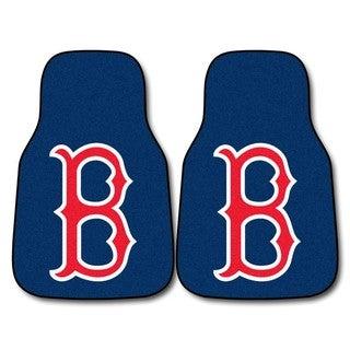 Fanmats Boston Red Sox 2-piece Carpeted Nylon Car Mats