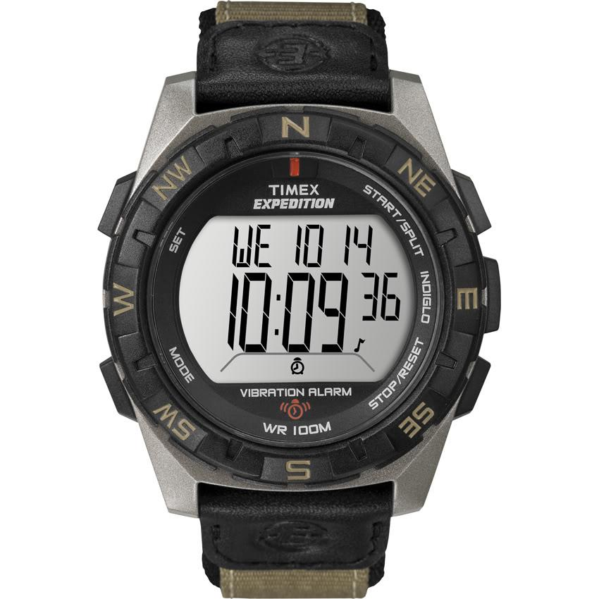 Timex T498549J Men's Expedition Rugged Digital Vibration Alarm Nylon Strap Watch