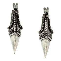 Kabella Lily B Sterling Silver Antiqued Beaded Dagger Earrings