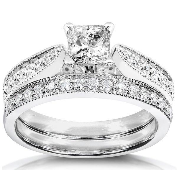 Annello 14k Gold 4/5ct TDW Diamond Bridal Ring Set (H-I, I1-I2)