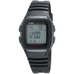 Casio Men's Classic Alarm Chrono Black Rubber Strap Watch