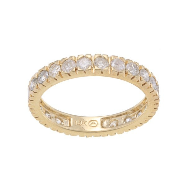 Beverly Hills Charm 14k Gold 1 1/2ct TDW Diamond Wedding Band (H-I, I2-I3)