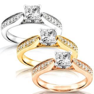 Annello 14k Gold 5/8ct TDW Diamond Engagement Ring (H-I, I1-I2)