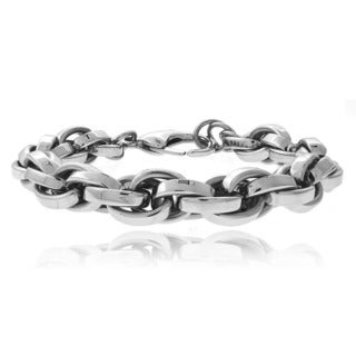 Mondevio Stainless Steel Cable Chain Bracelet