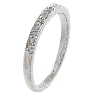 10k White Gold 1/5ct TDW Diamond Wedding Band (G-H, I1-I2)