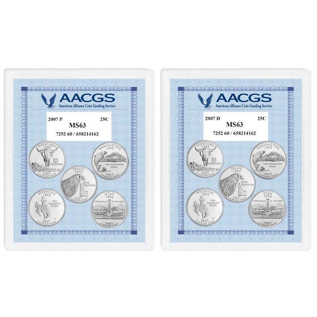 American Coin Treasures Brilliant Uncirculated Statehood Quarters (Montana, Washington, Idaho, Wyoming, Utah)