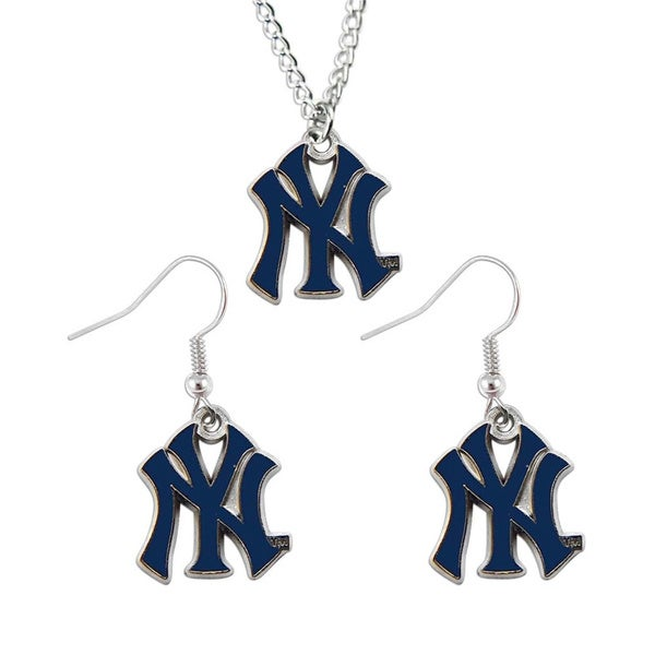 New York Yankees Necklace and Earrings Set