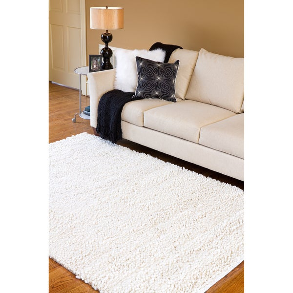 Hand-woven Jefferson Wool Rug (8' x 10'6)