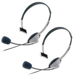 INSTEN White Headset for Microsoft Xbox 360/ Xbox 360 Slim (Pack of 2)