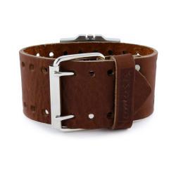 Nemesis Women's Trendy Oversized Brown Leather Watch