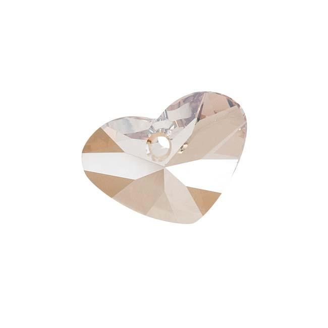 Beadaholique Crystal Golden Shadow 17mm Crazy 4 U Heart Pendant