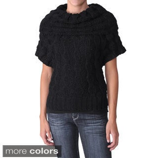 Ci Sono by Adi Junior's Cowlneck Short-Sleeve Unlined Sweater