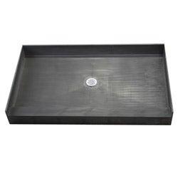 Tile Ready Center PVC Drain Shower Pan