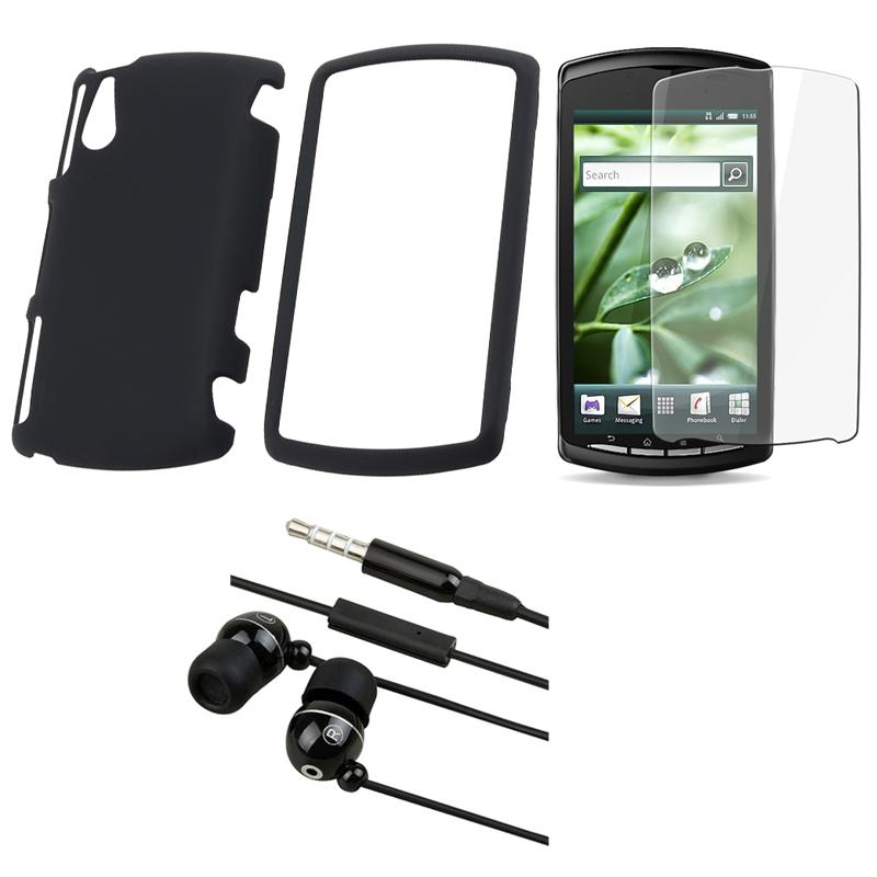 INSTEN Sony Ericsson Xperia Play R800i 3-piece Phone Case Cover, Protector, and Headset