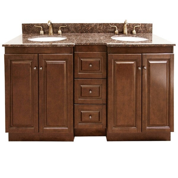 Granite Top 60 Inch Double Sink Bathroom Vanity Overstock Shopping Great Deals On Bathroom