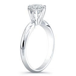 14k Gold 1ct TDW Certified 6-Prong Diamond Solitaire Engagement Ring (H-I, I1-I2)