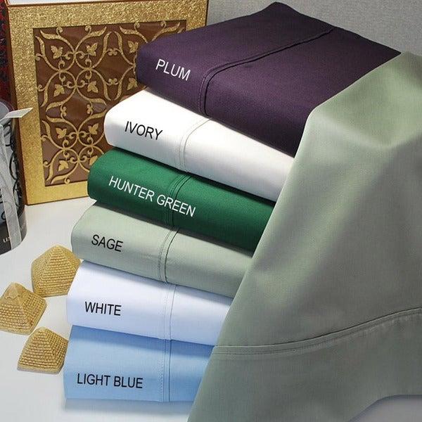 Luxor Treasures Egyptian Cotton 400 Thread Count Solid 3-piece Duvet Set