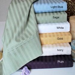 Simple Elegance Egyptian Cotton 400 Thread Count Stripe 3-piece Duvet Set