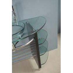 Kokols Wall-mount Bathroom Glass Vessel Sink Vanity Combo