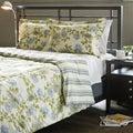 Water Flower Ivory Full/ Queen-size 3-piece Comforter Set