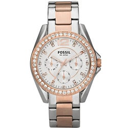 Fossil Women's ES2787 'Riley' Two-tone Stainless Steel Watch