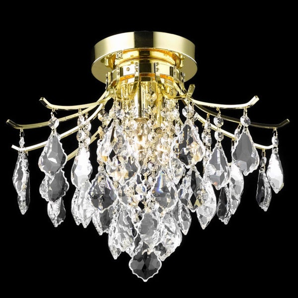 Somette Crystal Gold 3-light 64986 Collection Chandelier