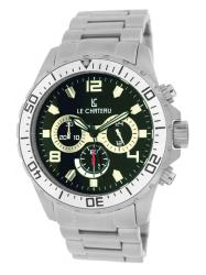 Le Chateau Men's Sport Dinamica All Steel Chronograph Watch with Black Dial