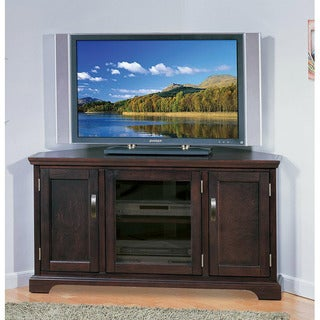 Chocolate Bronze 46-inch Corner TV Stand &amp; Media Console
