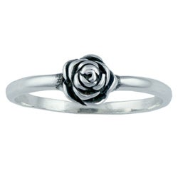 Silvermoon Sterling Silver Rose Ring