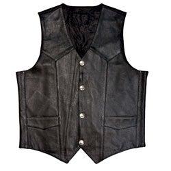 Mossi Men's Buffalo Nickel Leather Vest