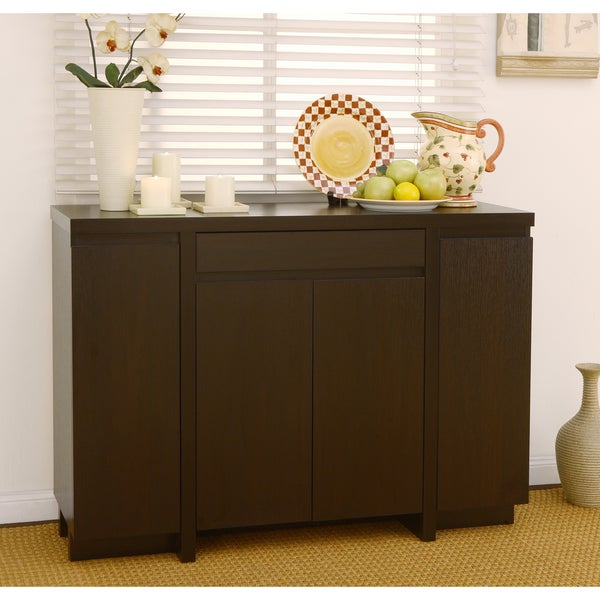 Furniture of America Holland Red Cocoa Buffet Cabinet