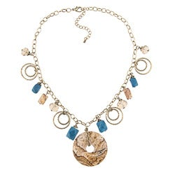 Alexa Starr Picture Jasper and Blue Jade Necklace