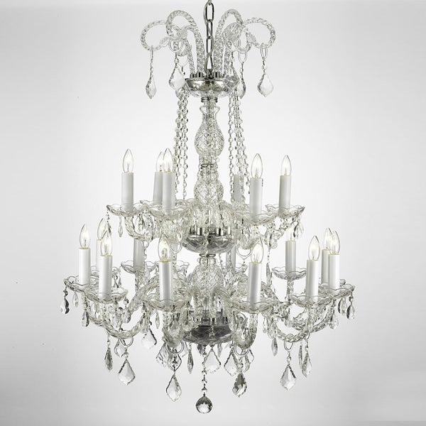 Gallery Crystal Two-tier 18-light Chandelier