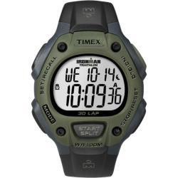 Timex Men's T5K520 Ironman Traditional 30-Lap Black/Dark Green Watch