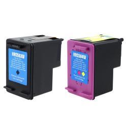 INSTEN HP 61XL Black/ Color Ink Cartridge (Remanufactured) (Pack of 2)