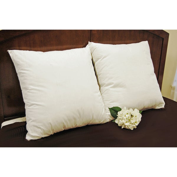 Splendorest 200 Thread Count Cotton 26-inch Euro Square Sham Stuffer Pillows (Set of 2)