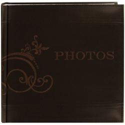 Pioneer Embroidered Scroll Brown Leatherette Photo Album