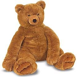 Melissa & Doug Plush Jumbo Brown Teddy Bear
