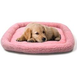 Pink 25x20-inch 2000 Sheepskin Bumper Bed