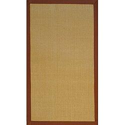 Asian Hand-woven Beige/ Brown Sisal Natural Fiber Rug (2'6 x 4')