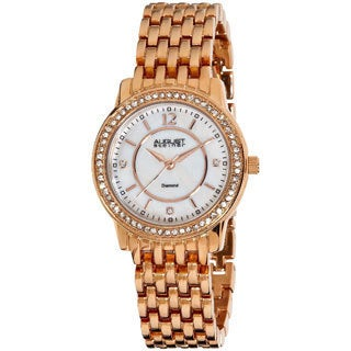 August Steiner Women's Water-Resistant Dazzling Diamond Bracelet Watch